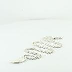 David Yurman Claw Charm & 20Inch Chain Necklace Set 925 Silver Set