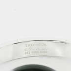 Tiffany & Co 925 Sterling Silver Peretti Sevillana Jade Cuff Bangle Bracelet