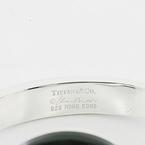 Tiffany & Co 925 Sterling Silver Peretti Sevillana Jade Cuff Bangle Bracelet