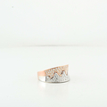 "Custom Made 18K Ladies White & Rose Gold ""Waves"" Diamond Modern Jewelry Ring"