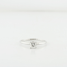 Ladies Stunning 14K White Gold Princes Cut Diamond Solitaire Engagement Ring