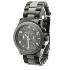 Mens Michael Kors RUNWAY MK-8201 Chronograph Oversized Watch 45mm - Black & Gray