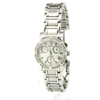 Ladies Bulova 96R19 Diamond-Studded Chronograph Mother of Pearl Dial 33mm Watch