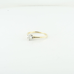 Certified Ladies Diamond Solitaire Engagement Ring In 14K Yellow Gold Size 7.75