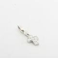 Cartier 18K White Gold 0.90 CTW Round Diamond Mini Pendant Charm W/Box