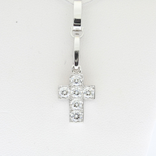 Cartier 18K White Gold 0.90 CTW Round Diamond Mini Pendant Charm W/Box