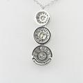 """Authentic Tiffany & Co Platinum Circlet Diamond Triple Drop Pendant 16"""" Necklace"""