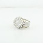Stunning Quadranscentennial Princes Cut Ladies White Gold 1.82CTW Diamond Ring