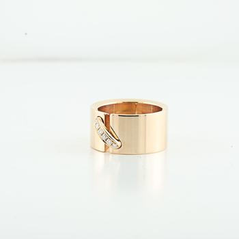 Authentic Chaumet Lien Large Model 18K Rose Gold & Diamond Ladies Ring Size 4.5