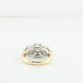 Jaw Dropping Ladies 1.39CTW Diamond 14K Yellow Gold Flower Jewelry Cluster Ring