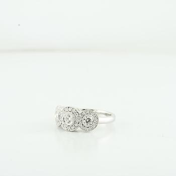 Tiffany & Co Platinum Circlet 0.55CTW Diamond PT950 Ladies Ring Size 4.75