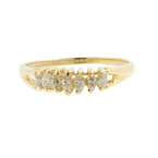 Vintage Classic Estate Ladies 14K Yellow Gold Diamond Pyramid Ring - 0.20CTW