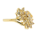 Ladies Classic Estate 14K Yellow Gold Diamond Cluster Cocktail Ring - 0.50CTW