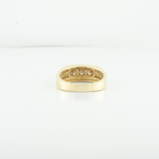 Brilliant 3 Diamond Mens Engagement Anniversary Yellow Gold Jewelry Ring