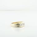 Brilliant 3 Diamond Mens Engagement Anniversary Yellow Gold Jewelry Ring
