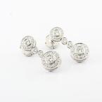 Authentic Tiffany & Co Platinum PT950 Circles Of Diamonds 90CTW Drop Earrings