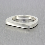 Vintage Classic Estate Ladies 925 Silver Bar Ring