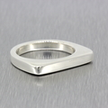 Ladies Vintage Retro Estate 925 Silver Bar Ring - Size 6.5