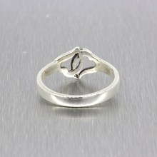 Ladies Vintage Classic Estate 925 Silver Double Open Heart Promise Ring - Size 6