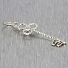Vintage Classic Estate Ladies 925 Silver Traditional Key Pendant