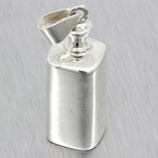 Estate 925 Silver 3D Bottle 40MM Pendant