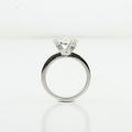 Brilliant 1.23 CTW Ladies Custom Diamond Engagement Ring In 18K Fine White Gold