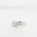 Brilliant 1.23 CTW Ladies Custom Diamond Engagement Ring In 18K Fine White Gold