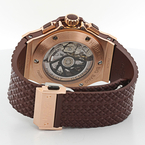 Hublot 44mm Big Bang Cappuccino Chronograph 18K Rose Gold Watch $30,000 Retail !