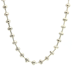 Estate 925 Silver Bead Ball 28 Inch Necklace Chain