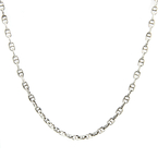 Estate 925 Silver 20 Inch Mariner Lobster Claw Clasp Chain Necklace