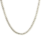 Estate 925 Silver Bead Ball 24 Inch Necklace Chain