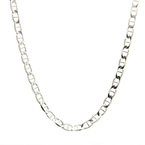 Estate 925 Silver 18 Inch Mariner Lobster Claw Clasp Chain Necklace