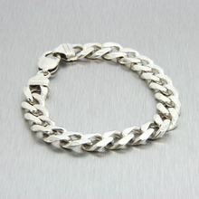 Men's Vintage Estate 925 Silver Cuban Link Lobster Claw Clasp Bracelet - 8 1/2""