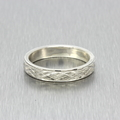 Estate Men's 925 Silver Ring Band Size 11