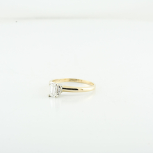Classic 0.55 Clean Emerald Cut Diamond Ladies Engagement 14K Yellow Gold Ring