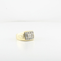 Mens Handsome Nugget Luxurious 0.54CTW Round Diamond 14K Yellow Gold Ring