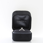 0.33CTW Tiffany&Co Platinum Princess Cut Vs1 Diamond Solitaire Engagement Ring