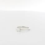0.33CTW Tiffany&Co Platinum Princess Cut Vs1 Diamond Solitaire Engagement Ring