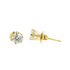 Classic Ladies Estate 14K Yellow Gold Diamond 0.80CTW Push Back Stud Earrings