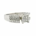 Classic Estate 18K White Gold Princess Cut Diamond Engagement Ring - 0.85CTW