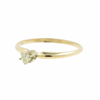Estate Classic 14K Yellow Gold Diamond Solitaire 0.10CTW Engagement Ring