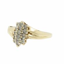 Elegant Classic Estate Ladies 10K Yellow Gold Diamond Cocktail Ring - 0.18CTW