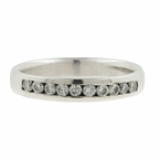 Estate Men's 14K White Gold Brilliant Round Diamond 0.50CTW Ring Band