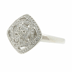 Charming Classic Estate Ladies 14K White Gold Diamond Cocktail Ring - 0.60CTW