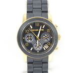 Women's Michael Kors Black Gold Tone Catwalk Chronograph Watch MK5191 Watch