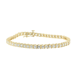 Classic Estate Ladies 14K Yellow Gold Zirconia 7 Inch Tennis Bracelet