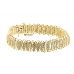 "Classic Estate Ladies 10K Yellow Gold Diamond 4.00CTW Tennis 7 1/2"" Bracelet"