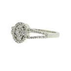 Vintage Classic Estate 14K White Gold Ladies Diamond Cluster Ring - 0.43CTW