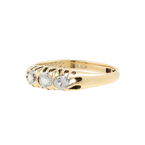 Ladies Classic Estate 18K Yellow Gold Quartz Anniversary Wedding Ring Band