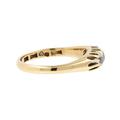 Ladies Classic Estate 18K Yellow Gold Quartz Anniversary Wedding Ring Band
